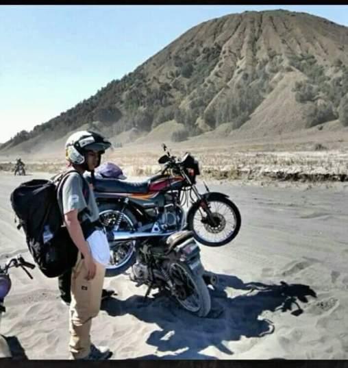 motor kampas kopling terbakar di gunung bromo