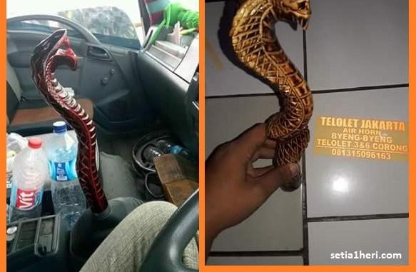 ragam bentuk tongkat persneleng variasi dari kayu bentuk ular