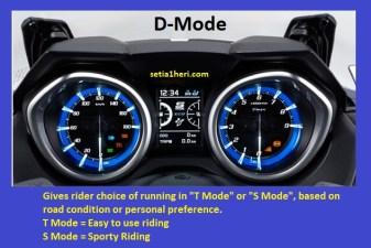 FItur Driver Mode Yamaha TMAX DX tahun 2018