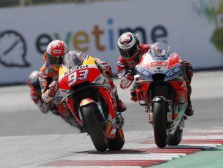 duel balapan antara marquez dan lorenzo pada austria gp tahun 2018