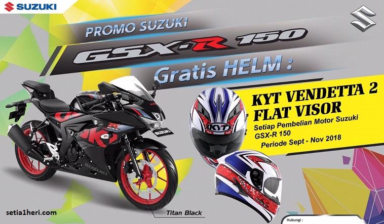 Beli motor Suzuki GSX R150, gratis helm KYT Vendetta 2 Flat Visor special editions brosis