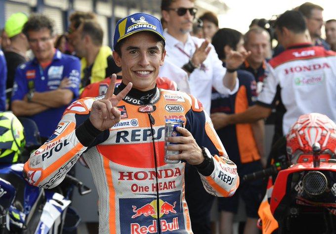 Hasil Moto GP Thailand tahun 2018 Marquez raih pertamax disusul Dovi dan Vinales
