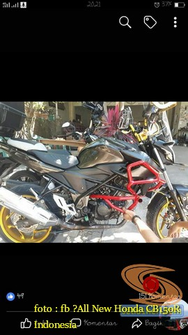 Kumpulan gambar inspirasi frame slidertubular atau crash bar pada Honda CB150R Street Fire (11)