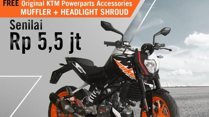 Special Promo KTM Duke 200 khusus Oktober 2018 dengan bonus KTM Power Part brosis (2)