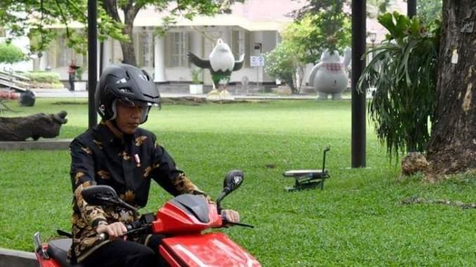 Impresi saat test ride motor listrik GESITS menurut presiden Jokowi, monggo disimak gans..