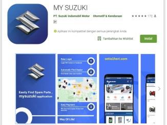 aplikasi my suzuki untuk cari sparepart resmi kendaraan suzuki