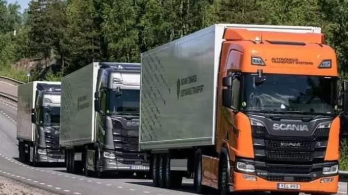Ini alasan mengapa truk suka beriringan atau konvoi dijalan raya yakni platooning seperti scania
