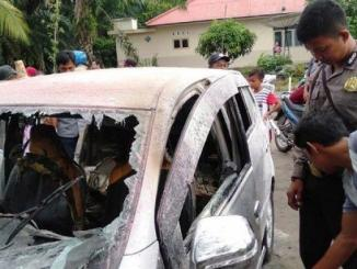 Mengisi BBM sambil merokok, mobil Agya tersulut dan terbakar di Kepulauan Bangka Belitung