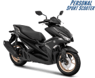 Pilihan warna baru Yamaha Aerox 155 VVA tipe S tahun 2018 warna hitam