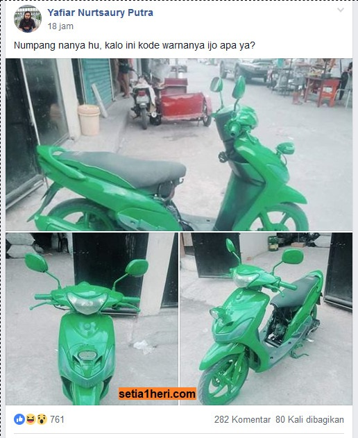 ngecat motor dengan cat tembok di YAMAHA MIO MODIFICATION