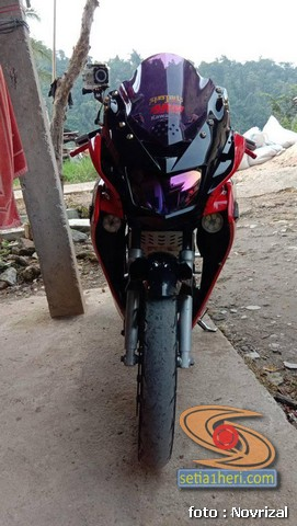 Modifikasi Honda Supra Fit full fairing kayak motor sport brosis (3)