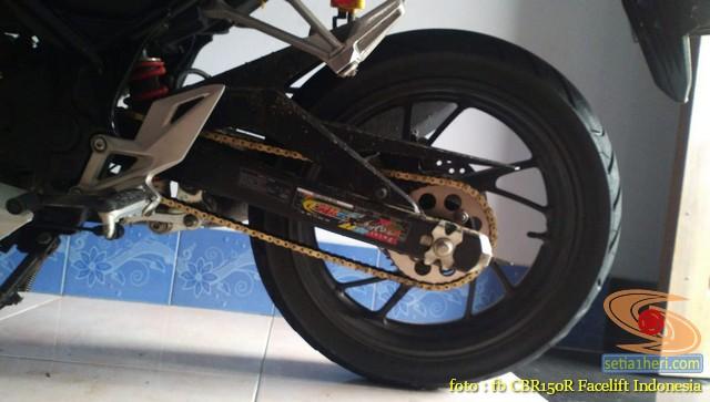 Review gearset 428 16-41T pada Honda CBR150R (2)