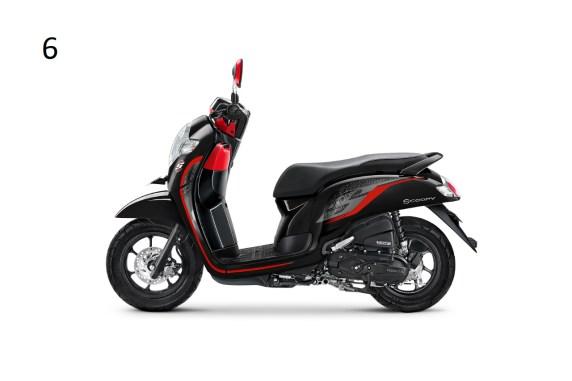 7 Pilihan warna dan stripping baru New Honda Scoopy tahun 2019 (4)