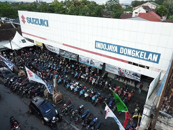 Ratusan Bikers Suzuki Yogyakarta nikmati Suzuki Saturday Night Ride tahun 2019