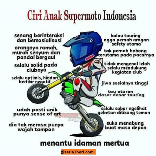 ciri anak supermoto indonesia