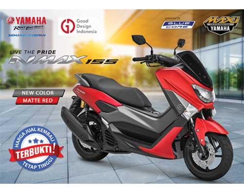 Yamaha Nmax 155 tahun 2019 ada pilihan warna Matte Red brosis