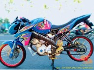 Kumpulan gambar modifikasi Yamaha Vixion Jari-jari bodi coak brosis...