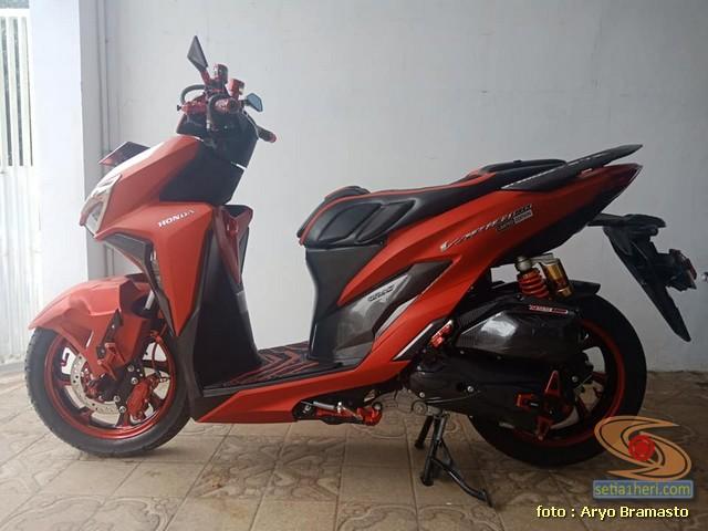 Modifikasi All New Honda Vario 150 merah merona ala sultan brosis 1
