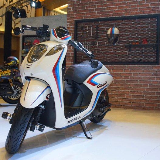 Konsep modifikasi cafe racer Honda Genio tahun 2019