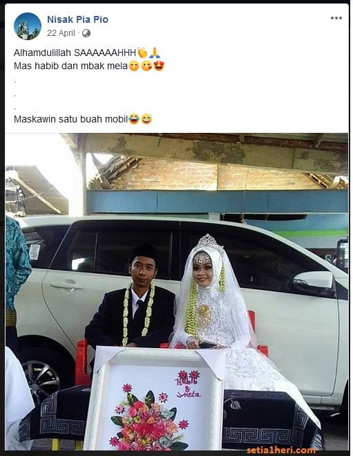 maskawin pengantin berupa mobil