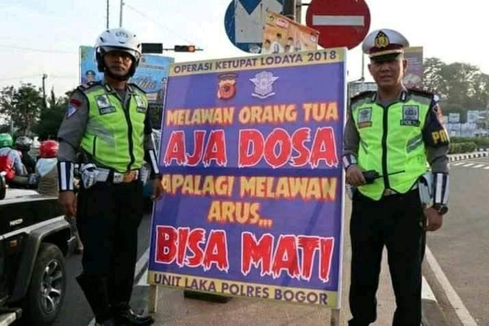 pesan polisi terkait keselamatan berkendara byang nendang banget