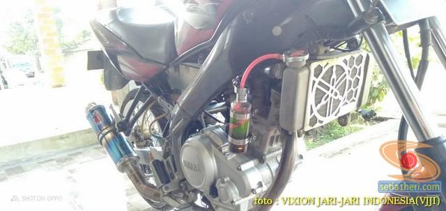 Kumpulan gambar Modifikasi tabung reservoir coolant pada sepeda motor pakai botol parfum gans.. (20)