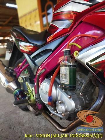 Kumpulan gambar Modifikasi tabung reservoir coolant pada sepeda motor pakai botol parfum gans.. (4)