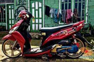 Kumpulan Gambar Modifikasi Yamaha Mio Ceper alias penyapu jalan gans.. (12)