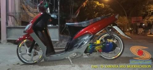 Kumpulan Gambar Modifikasi Yamaha Mio Ceper alias penyapu jalan gans.. (19)