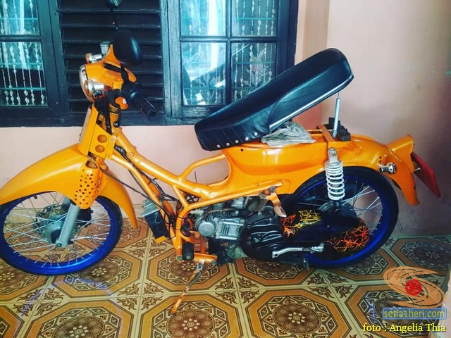 Modifikasi tumpang sari Honda pitung pakai basic mesin Yamaha Mio