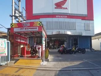 Ride Thru Pit Express, layanan bebas antri ganti oli dan sparepart Honda dari MPM