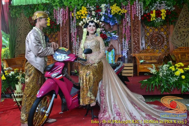 pernikahan biker honda supra