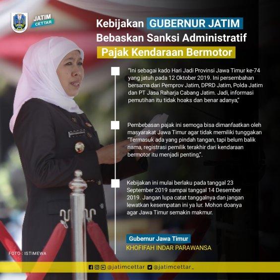 pemutihan pajak motor di Jawa Timur tahun 2019