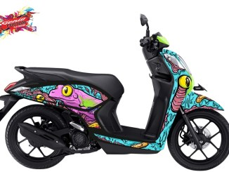 Inspirasi Modifikasi Honda Genio versi pemenang Genio Artwork Competition