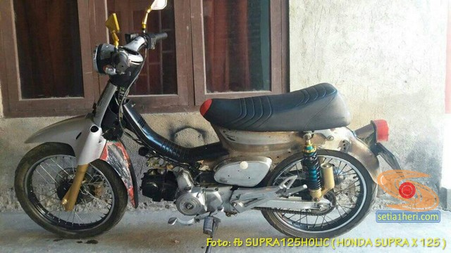 Modifikasi Kawin silang Honda Supra dan Honda C70 (8)