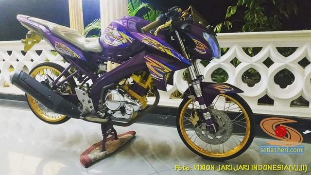Modifikasi Yamaha Vixion Jari-jari warna Ungu brosis… (8)