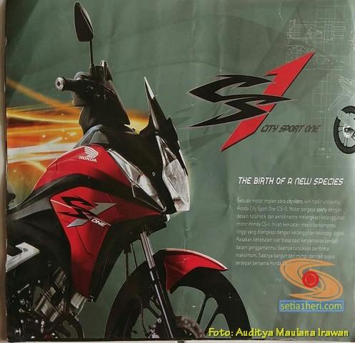 Brosur Iklan jadul Honda CS1 tahun 2008 silam