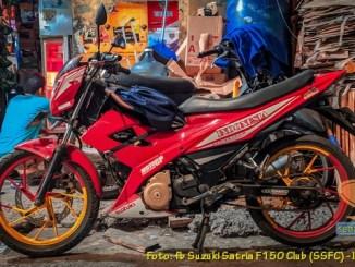 Modifikasi Suzuki Satria Fu warna merah brosis