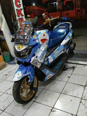Kumpulan modifikasi sepeda motor livery doraemon (6)