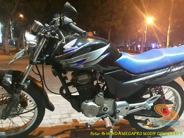 Modifikasi Honda Megapro bodi coak dan lampu pesek brosis...