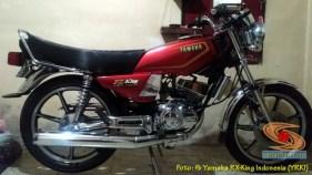 Modifikasi velg palang atau bintang pada Yamaha RX King (11)