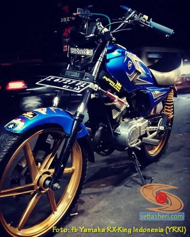 Modifikasi velg palang atau bintang pada Yamaha RX King (30)