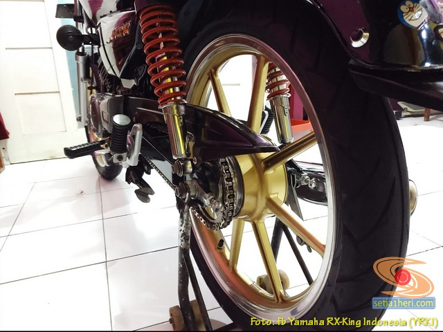 Modifikasi velg palang atau bintang pada Yamaha RX King (32)