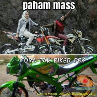 Meme biker gambar paham mas motor trail idaman wanita jaman now (5)