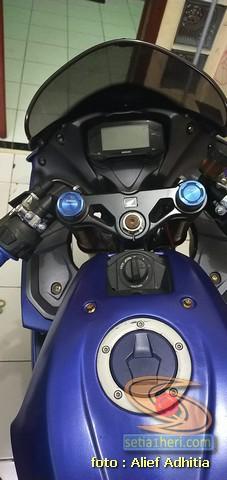 Modifikasi Suzuki GSX R150 istimewa, pakai part punya CBR250RR brosis.. (3)