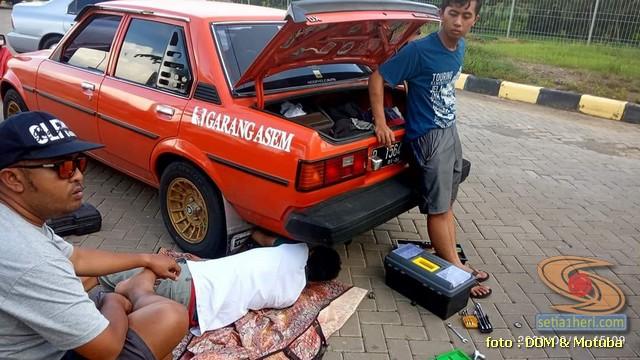 Pengalaman turing motuba Toyota Corolla DX lintas provinsi, ternyata lumayan irit gans. (7)