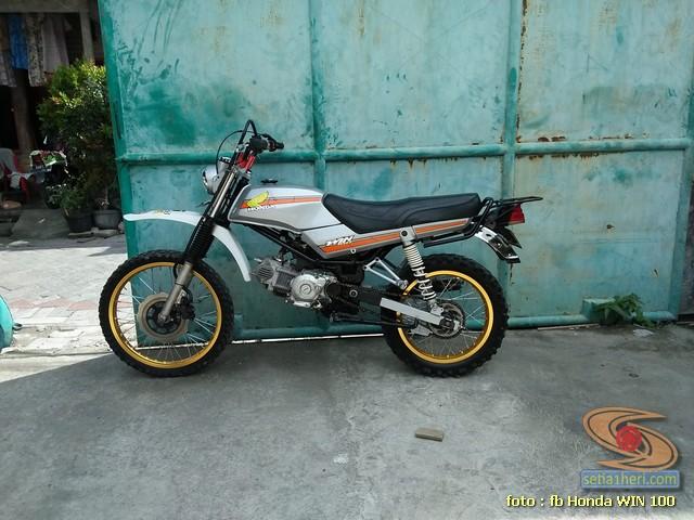 Foto- Foto modifikasi motor Honda Win jadi motor trail tahun 2020 (12)
