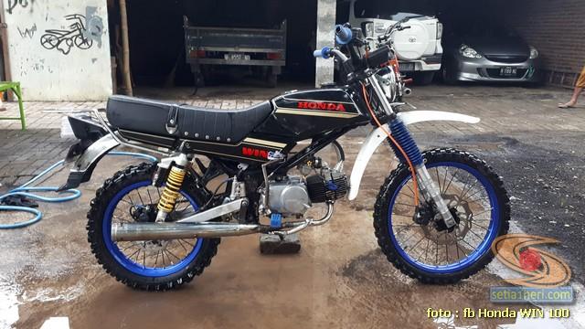 Foto- Foto modifikasi motor Honda Win jadi motor trail tahun 2020 (25)