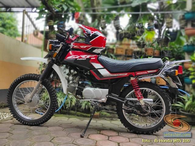 Foto- Foto modifikasi motor Honda Win jadi motor trail tahun 2020 (28)