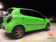Kumpulan foto modifikasi cutting sticker mobil Agya dan Ayla tahun 2020.